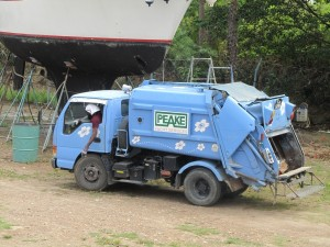 Tiny Trash Truck in Trinidad